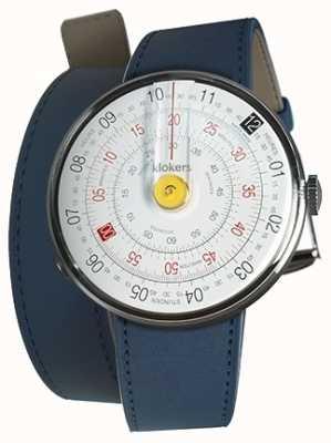 Klokers Klok 01 tête de montre jaune indigo bleu 420mm double sangle KLOK-01-D1+KLINK-02-420C3