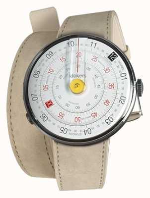 Klokers Klok 01 jaune tête de montre gris alcantara 420mm double sangle KLOK-01-D1+KLINK-02-420C6