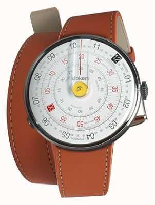 Klokers Klok 01 jaune tête de montre orange 420mm double sangle KLOK-01-D1+KLINK-02-420C8