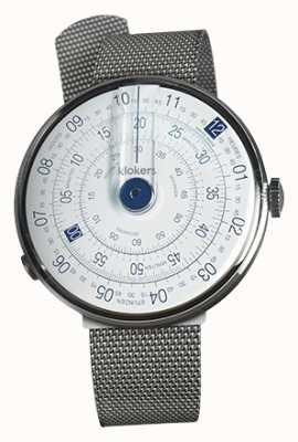 Klokers Klok 01 bracelet en acier milano tête de montre bleue KLOK-01-D4.1+KLINK-05-MC1