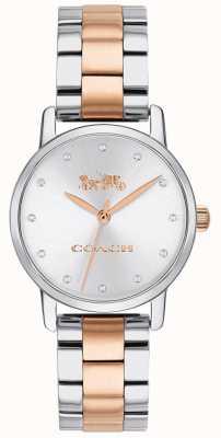 Coach Grand bracelet deux tons en or rose et argent pour femme 14503005