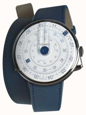 Klokers Klok 01 bleu tête de montre bleu indigo double sangle KLOK-01-D4.1+KLINK-02-380C3