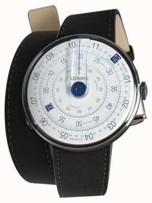 Klokers Klok 01 bleu tête de montre mat noir 420mm double sangle KLOK-01-D4.1+KLINK-02-420C2