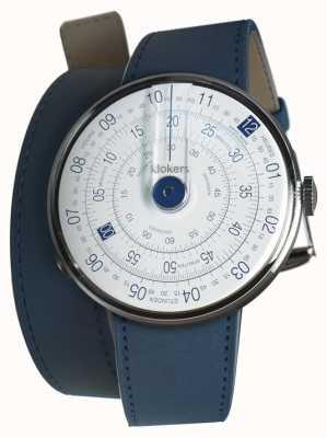 Klokers Klok 01 bleu tête de montre indigo bleu 420mm double sangle KLOK-01-D4.1+KLINK-02-420C3