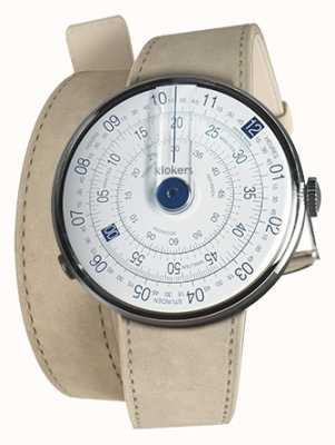 Klokers Klok 01 bleu tête de montre gris alcantara 420mm double sangle KLOK-01-D4.1+KLINK-02-420C6