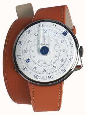 Klokers Klok 01 bleu tête de montre orange 420mm double sangle KLOK-01-D4.1+KLINK-02-420C8