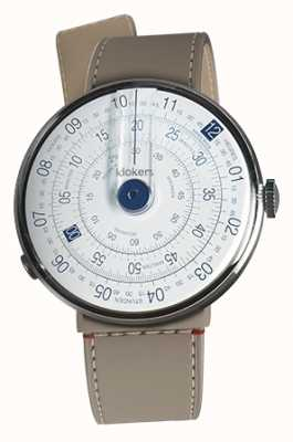 Klokers Klok 01 bleu tête de la montre grege strait sangle unique KLOK-01-D4.1+KLINK-04-LC9