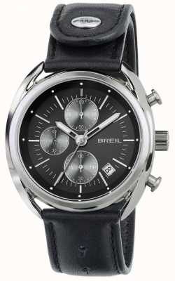 Breil Beaubourg chronographe en acier inoxydable bracelet en cuir noir TW1527