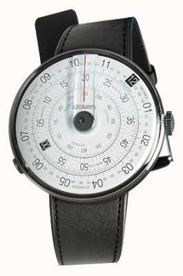 Klokers Klok 01 tête de montre noire bracelet simple en satin noir KLOK-01-D2+KLINK-01-MC1