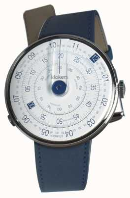 Klokers Klok 01 bleu tête de montre indigo bleu unique sangle KLOK-01-D4.1+KLINK-01-MC3