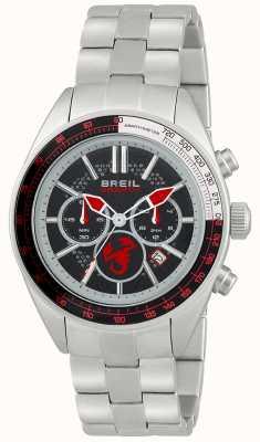 Breil Chronographe Abarth en acier inoxydable cadran noir et rouge TW1692
