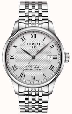 Tissot Mens le locle powermatic 80 montre automatique en acier inoxydable T0064071103300