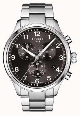 Tissot Bracelet chrono en acier inoxydable noir chrono xl T1166171105701