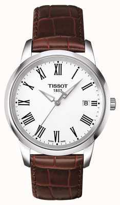 Tissot Bracelet rêve classique en cuir marron pour homme T0334101601301