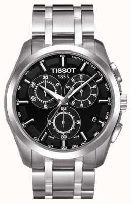 Tissot Mens coutourier chronographe cadran noir acier inoxydable T0356171105100