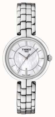 Tissot Femmes nacre flamant rose en acier inoxydable cadran T0942101111100