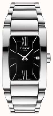 Tissot Womens generosi-t en acier inoxydable noir cadran tonneau date T1053091105800