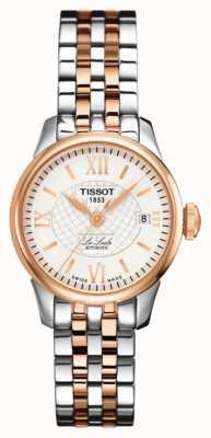Tissot Le Locle Automatic Two Tone Rose Gold Pvd Plaqué Pour Femme T41218333