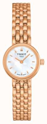 Tissot Womens belle rose or pvd plaqué vadrouille cadran T0580093311100