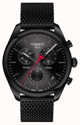 Tissot Bracelet pr100 chronographe noir pour homme T1014173305100