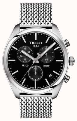 Tissot Bracelet chronographe homme pr100 chronographe noir T1014171105101
