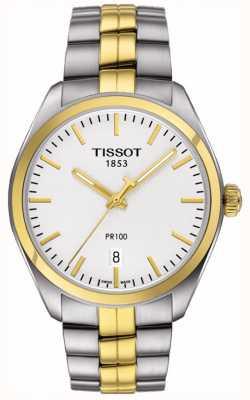 Tissot Bracelet homme plaqué or en acier inoxydable PR100 Date T1014102203100