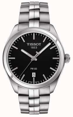 Tissot Bracelet homme en acier inoxydable avec cadran noir PR100 T1014101105100