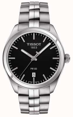 Tissot Bracelet en acier inoxydable cadran noir pr100 T1014101105100