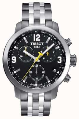 Tissot Mens prc 200 chronographe cadran noir deux tons T0554171105700