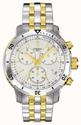Tissot Hommes prs 200 deux tons chronographe plaqué or bracelet T0674172203101