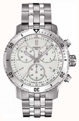 Tissot Mens prs 200 argent cadran chronographe en acier inoxydable T0674171103101