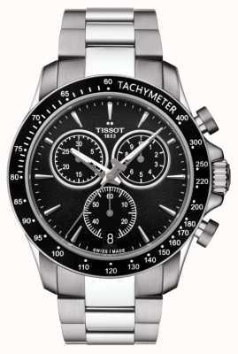 Tissot Mens v8 quartz chronographe en acier inoxydable cadran noir T1064171105100