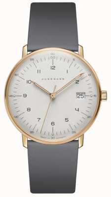 Junghans Max bill damen montre en cuir gris quartz 047/7854.00