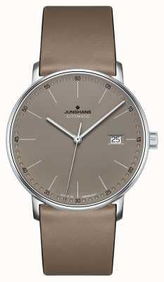 Junghans Formez une montre automatique à bracelet en cuir marron 027/4832.00