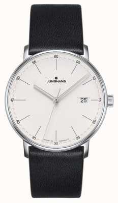 Junghans Montre en cuir quartz noir 041/4884.00