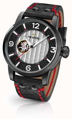 TW Steel Fils de temps supremo édition limitée bracelet en cuir noir TWMST6