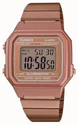 Casio Illuminateur numérique classique de base en or rose B650WC-5AEF