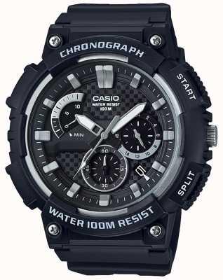 Casio Chronographe boîtier en résine noire bracelet en résine noire date affichage MCW-200H-1AVEF