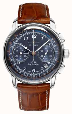 Zeppelin | lz126 | Los Angeles | chronographe bleu | 7614-3