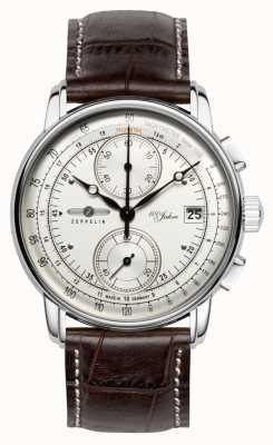 Zeppelin | série 100 ans | édition 1 | date chronographe crème | 8670-1
