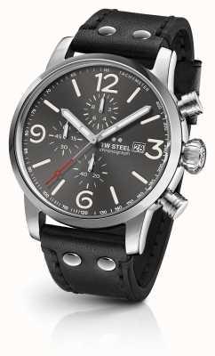 TW Steel Maverick calibre chronographe cadran gris foncé sunray MS93