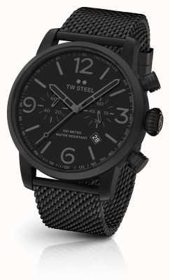 TW Steel Maverick calibre chronographe bracelet en maille noire cadran noir MB33