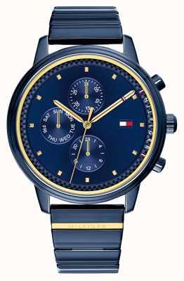 Tommy Hilfiger Blake | bracelet en acier bleu ip | cadran bleu 1781893