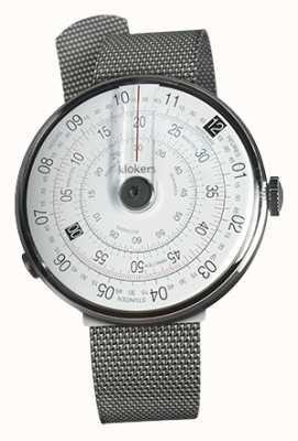 Klokers Klok 01 bracelet en acier milano avec tête de montre noire KLOK-01-D2+KLINK-05-MC1