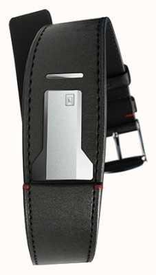 Klokers Klink 01 satin bracelet noir seulement 22mm de large 230mm de long KLINK-01-MC1