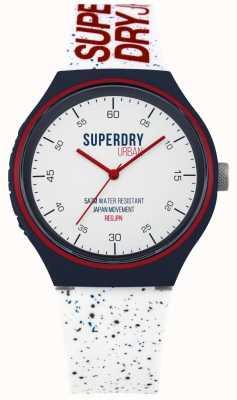 Superdry Urban xl bleu fleck blanc bracelet en silicone SYG227W