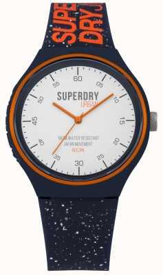Superdry Urban xl fleck bleu marine bracelet en silicone SYG227U