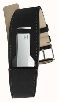 Klokers Klink 01 mat bracelet noir seulement 22mm de large 230mm de long KLINK-01-MC2