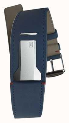 Klokers Klink 01 bracelet bleu indigo seulement 22mm de large 230mm de long KLINK-01-MC3