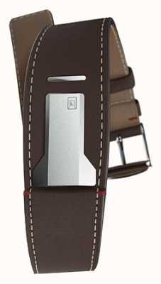 Klokers Klink 01 bracelet brun chocolat seulement 22mm de large 230mm de long KLINK-01-MC4